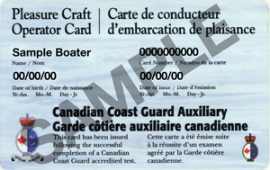 Pleasure Craft Sample Card